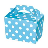 Baby Blue Polka Dot / Spot Meal Party Box